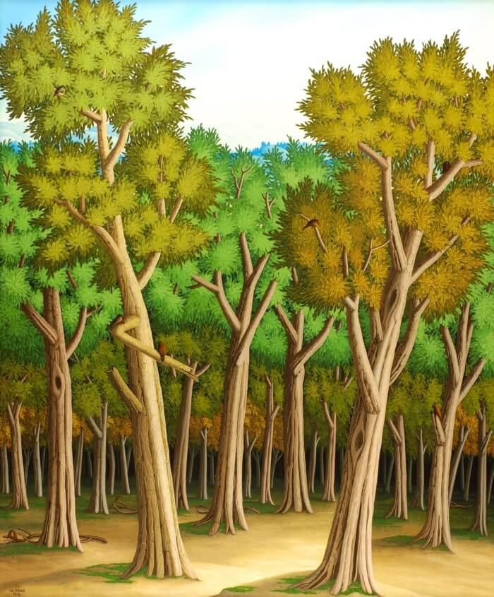 Wald am Morgen von Siegbert Hahn