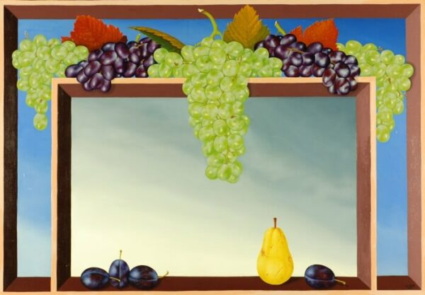 Still life with fruits (grapes