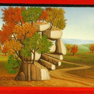 The picture (2 of 4) is a part of four individually framed oil paintings that depict the seasons (spring