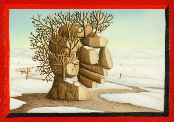 The picture (4 of 4) is a part of four individually framed oil paintings that depict the seasons (spring
