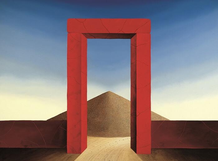 Das rote Tor von Siegbert Hahn