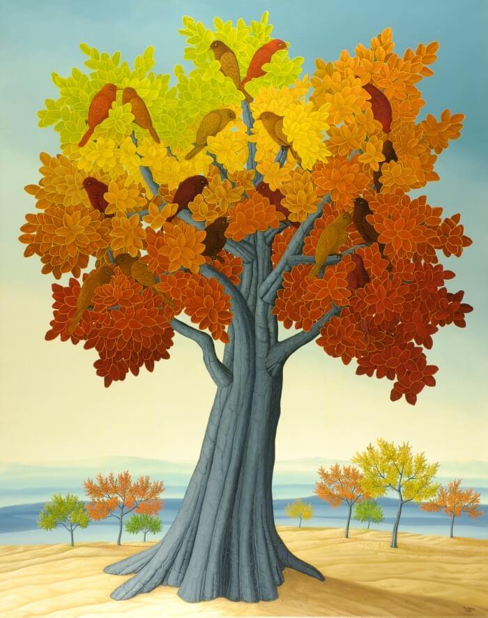 Im Herbstbaum von Siegbert Hahn